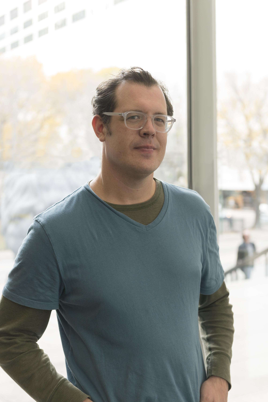 Color portrait of a man wearing glasses