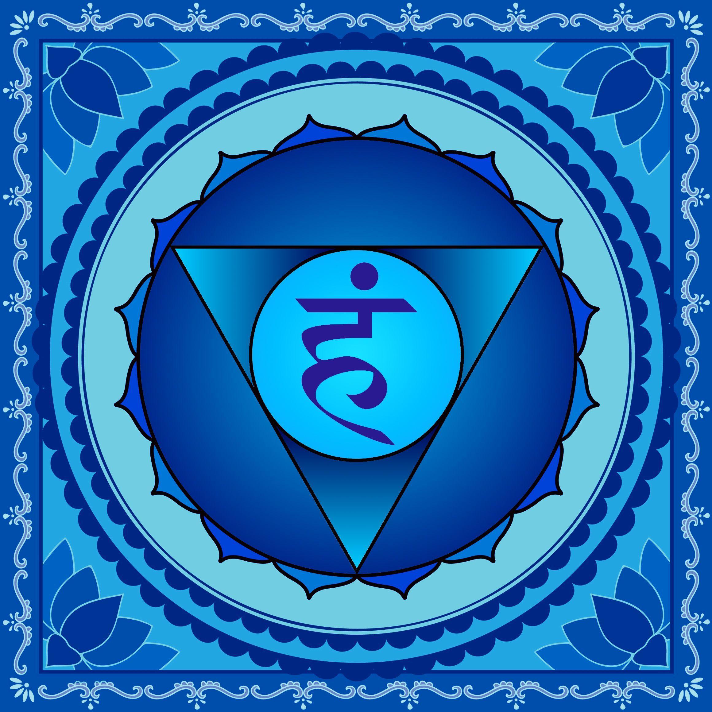 Decorative blue artwork
